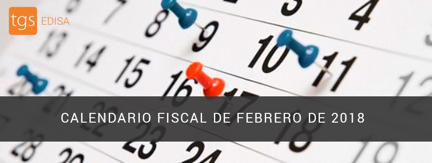 calendario fiscal de febrero de 2018
