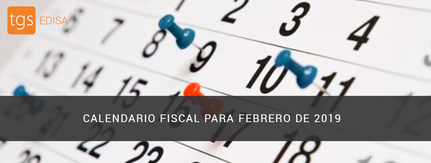 calendario fiscal febrero 2019